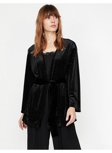 Koton Puantiyeli Ceket Siyah